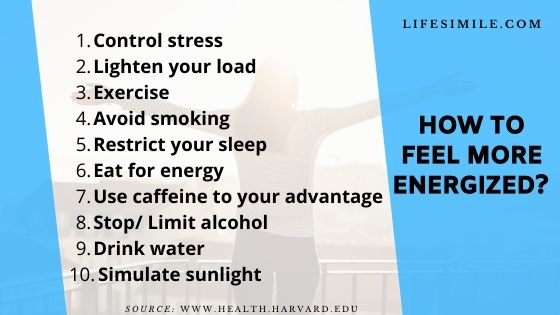 how to feel more energized