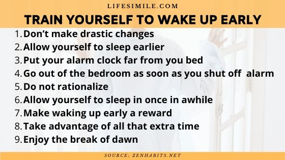 How to Train Yourself to Wake up Early in a Week