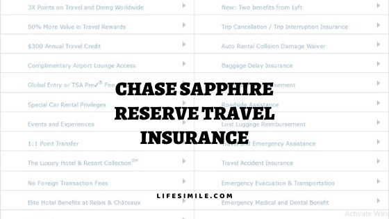 Chase Sapphire Reserve Travel Insurance Guideline - Life Simile
