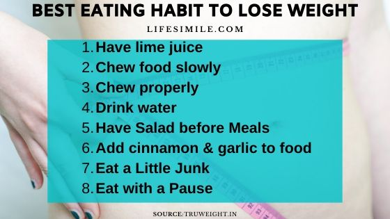 32 Best Eating Habit to Lose Weight in One Month