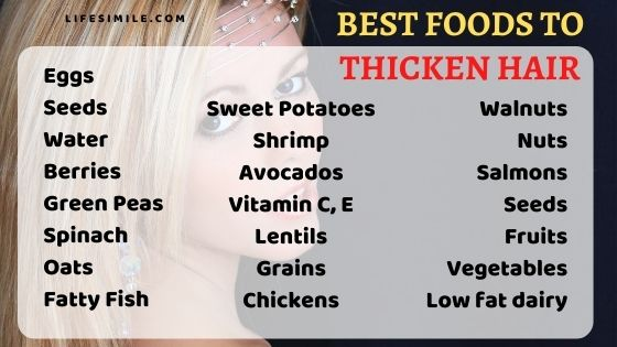 23 Best Foods to Thicken Hair for Quick Result