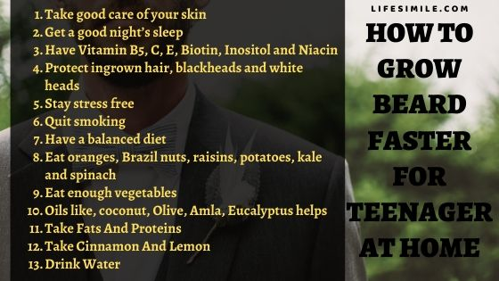 How to Grow Beard Faster for Teenager Home Remedies