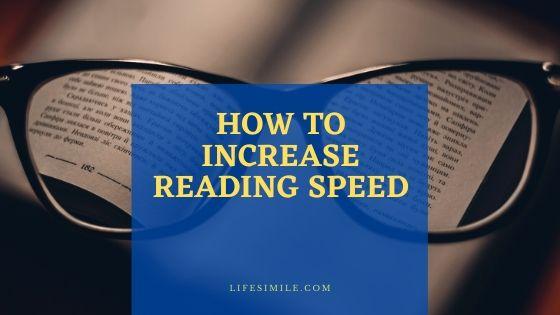 how to improve reading speed