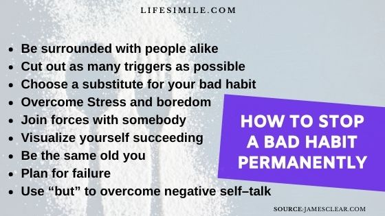 How to Stop A Bad Habit Permanently