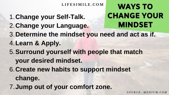 Ways to Change Your Mindset that Successful People Applied