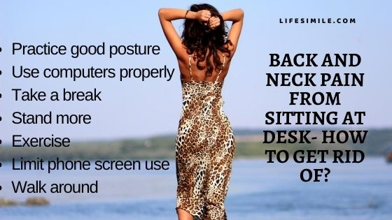 17 Remedies on Back and Neck Pain from Sitting at Desk