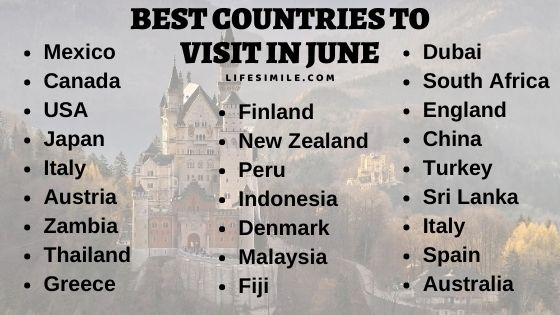 25 Best Countries to Visit in June – Travel Plan