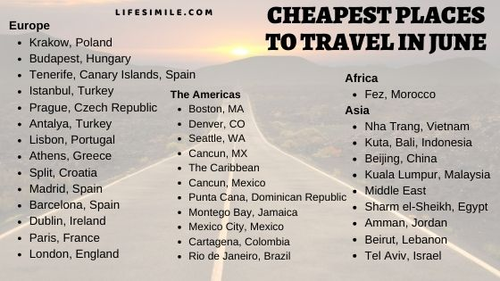 50 Cheapest Places to Travel in June – Alone | Family | Kid