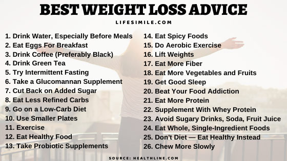 23 Life Changing Best Weight Loss Advice for Beginners