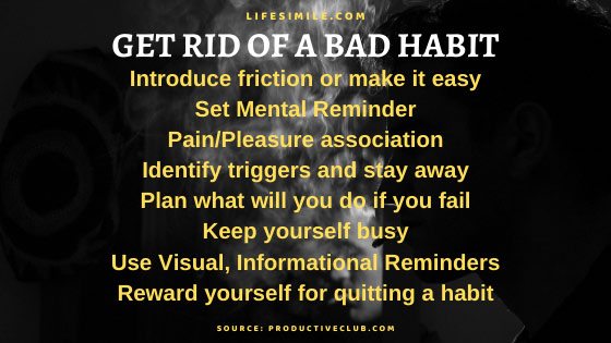 Get Rid of A Bad Habit Step by Step in 2 Weeks