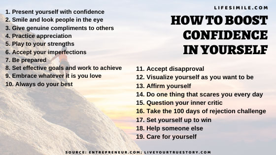14 Tips on How to Boost Confidence in Yourself