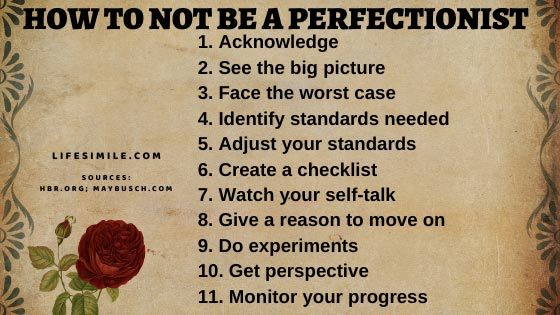 9 Steps to Explore How to Not Be A Perfectionist