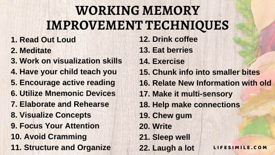 25 Great Ways of Working Memory Improvement